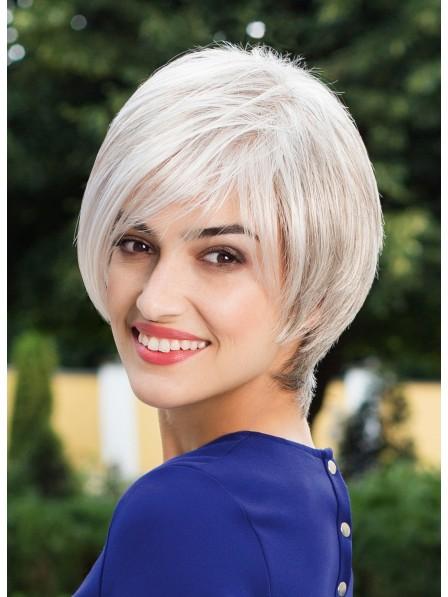 Grey 100% Human Hair Celebrity Bob Wigs