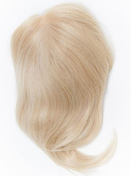 New 100% Human Hair Blonde Mono Top Piece