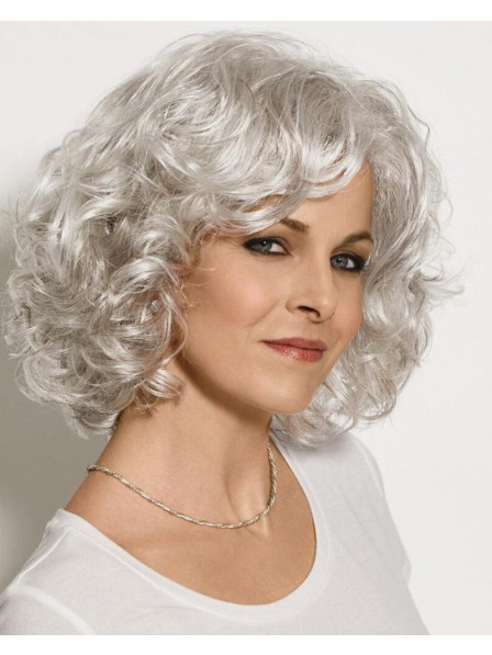 Gorgeous Mid-Length Bob Wig With Lush Airy Layers Of Open Curls