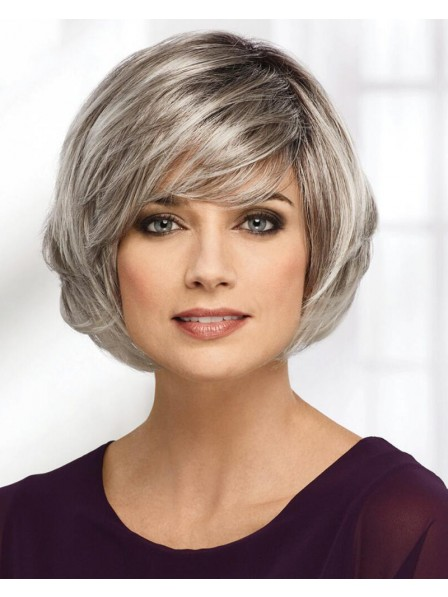 Modern Angled Bob Wig With A Stacked Back And Lush Graduated Layers
