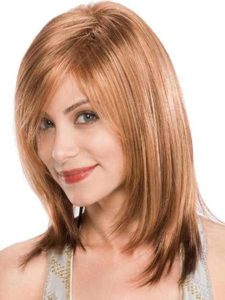 Lace Front Medium Classic Cut Synthetic Hair Wig