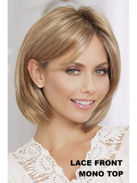 Lace Front Mono Top Blonde Middle Part Synthetic Wigs