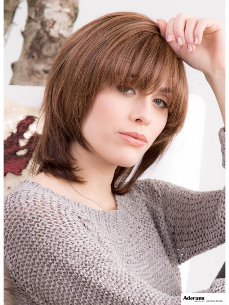 Beautiful Bobs Cut Capless Wig With Bangs Synthetic Hair