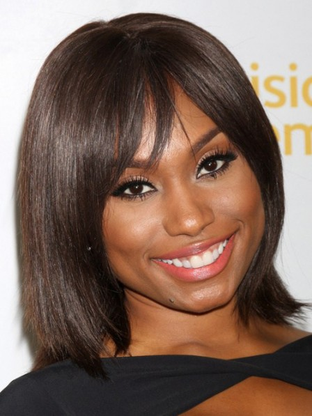 Best Lace Front Chin Length Straight100% Human Hair African American Wigs