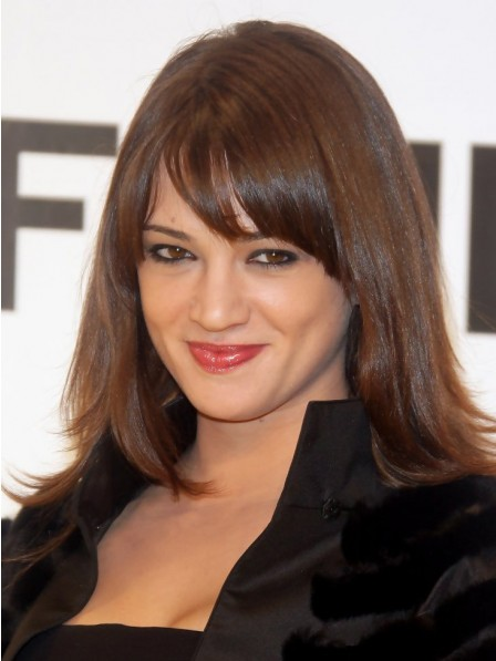 Best Layered Capless Human Hair Celebrity Bob Wigs With Bangs