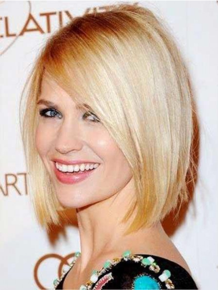 Blonde Lace Front 100% Human Hair Straight Celebrity Wigs