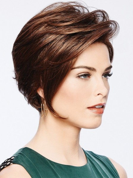Trendy Chin-length Bob Wig with Front Layers Popular Style