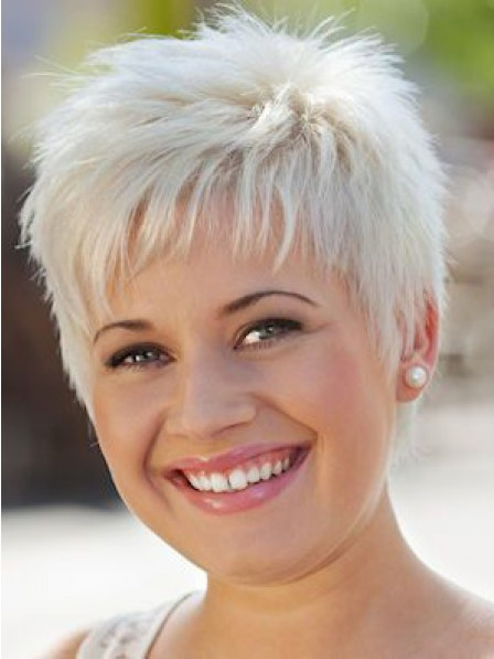 Choppy Grey Lace Front Synthetic Celebrity Wigs