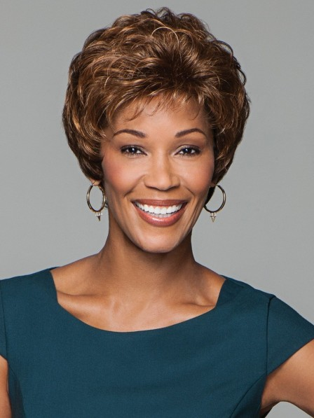 Classic Short Capless Curly Wigs For Old Women