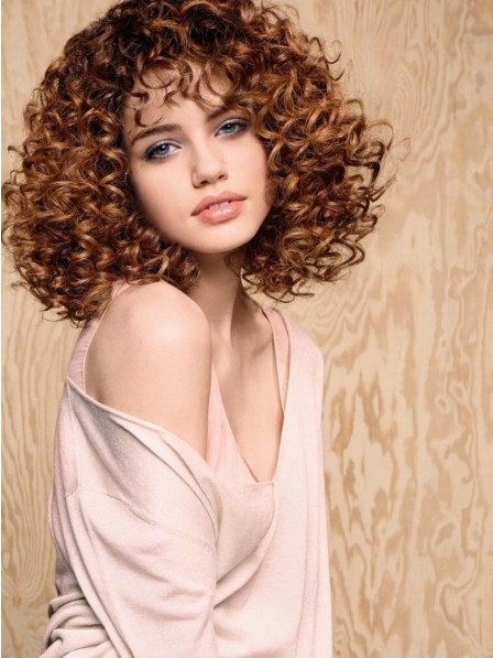 Classical Curly Lace Front Indian Remy Human Hair Celebrity Wigs