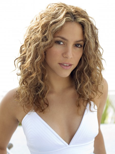 Cute Curly Synthetic Hair Ladies Long Lace Front Celebrity Wigs