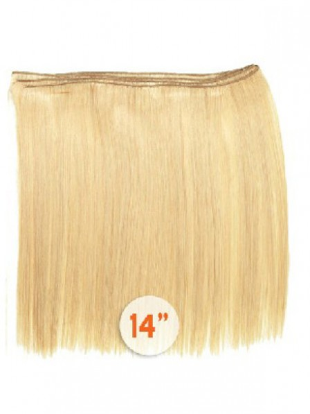 Straight Blonde 100% Human Hair Weft Hair Extensions