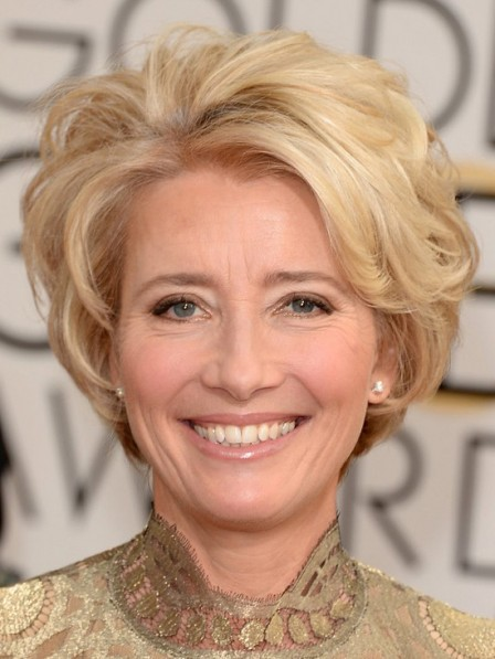 Emma Thompson Short Hair Cut Hairstyles for Women Over 40-50