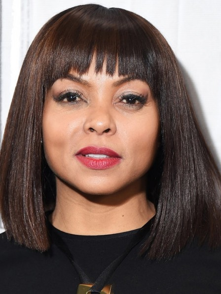 Emmett Till Remy Human Hair Lace Front Bob Wigs With Bangs