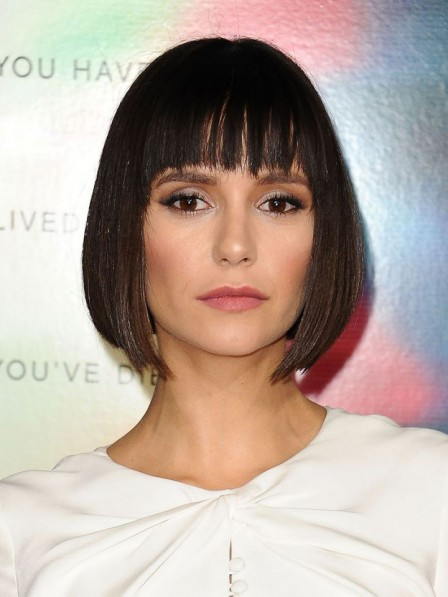 Fashion 2019 Nina Dobrev Natural Remy Human Hair Wigs With Best Quality