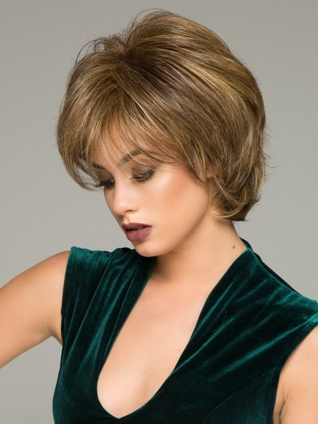 Fashion Layered Cut Short Women Synthetic Wig With Side Bang