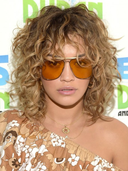 Full Lace Elvis Duran Curly Hair Wigs Mono Top