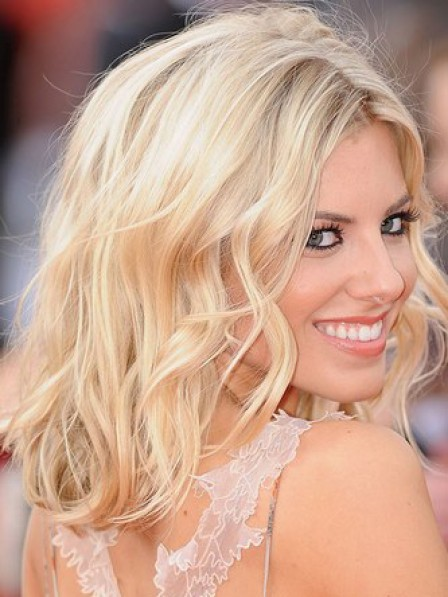 Gorgeous Blonde Wavy Lace Front Synthetic Celebrity Wigs