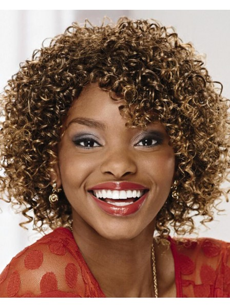 Gorgeous Mid-Length African American Wig With Voluminous Layers