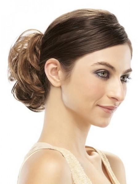 Natural Look Brown 100% Human Hair Claw Clip Hair Wraps