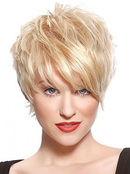 Hot Sale Lace Front Mono Top Synthetic Celebrity Blonde Wigs