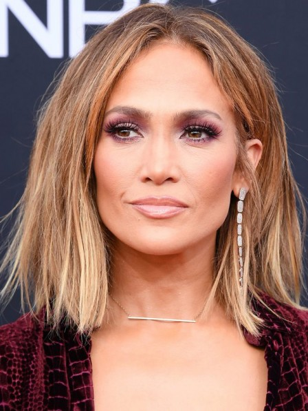 Jennifer Lopez Lace Front Synthetic Celebrity Wigs