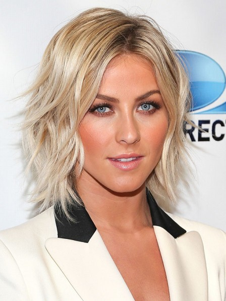 Julianne Hough Short Layered Curly Synhetic Hair Celebrity Wigs