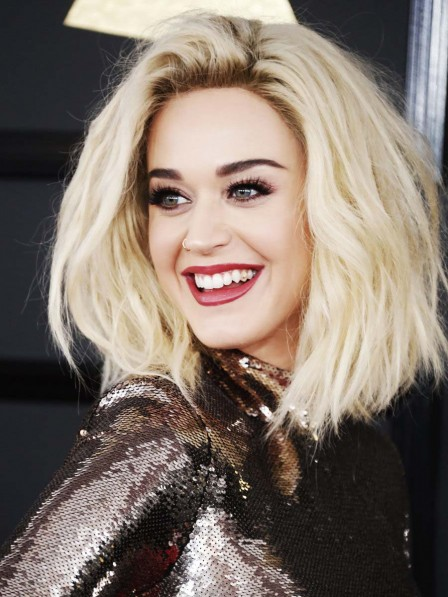 Katy Perry's Medium Lace Front Synthetic Hair Wig
