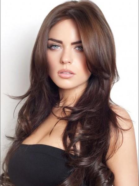 Lace Front Best Women's Synthetic Celebrity Long Wigs