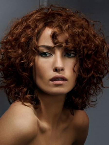 Lace Front Synthetic Celebrity Curly Wigs For Women