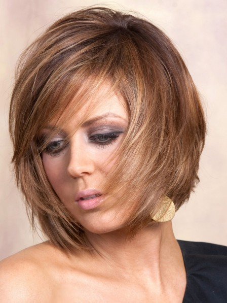 Lace Front Synthetic Celebrity Straight Bob Wigs