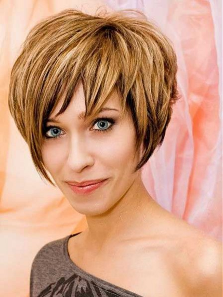 Ladies Short Remy Human Hair Celebrity Wigs 2019