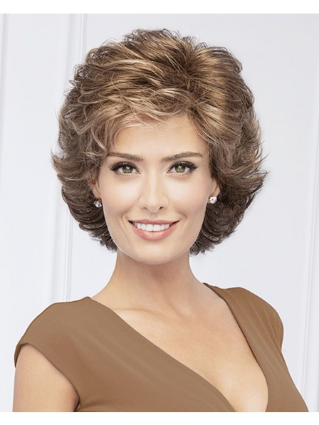 Light Brown Short Synthetic Curly Wigs for You