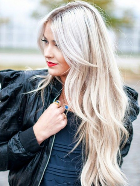 Long Lace Front Indian Remy Human Hair Grey Celebrity Wigs