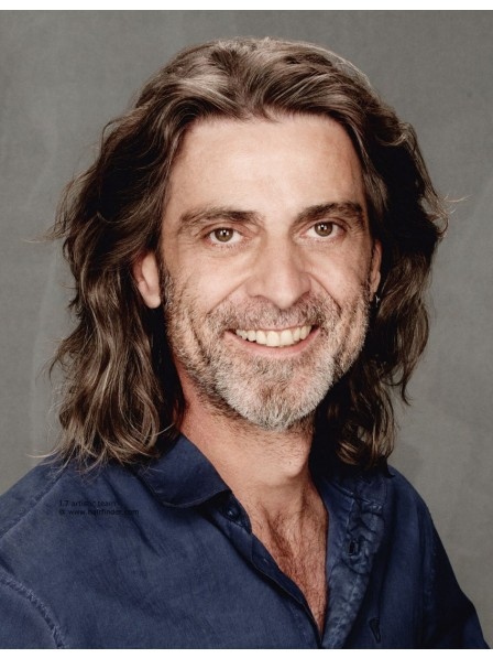 Simple Long Hairstyle Lace Front Wigs For Older Men