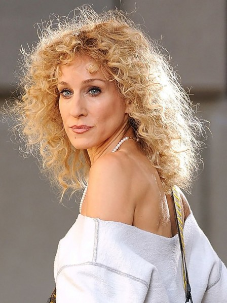 Long Lace Front Curly Blonde Synthetic Celebrity Wigs