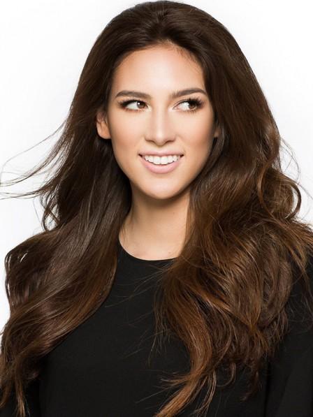 Best Long Brown 100% Human Hair 3/4 Wigs