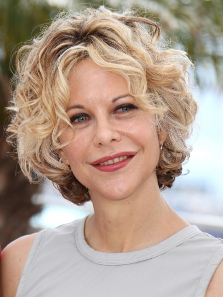 Meg Ryan Curly Synthetic Celebrity Wigs Cheap Price