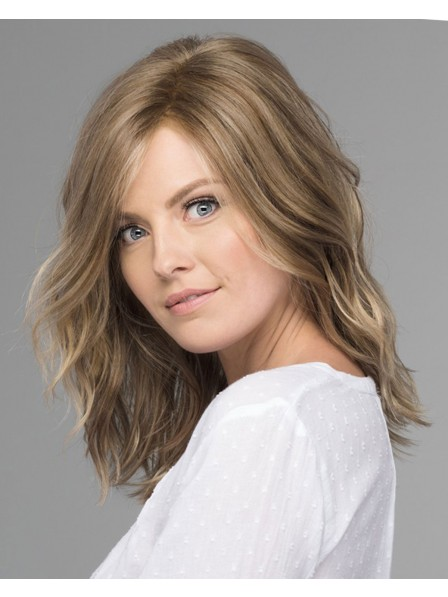 Mid-Length Gentle Waves Lace Front Synthetic Wig