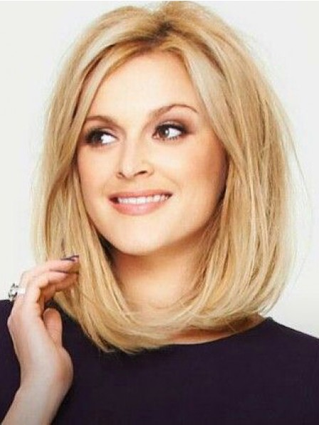 Modern Bob Lace Front Synthetic Celebrity Blonde Wigs