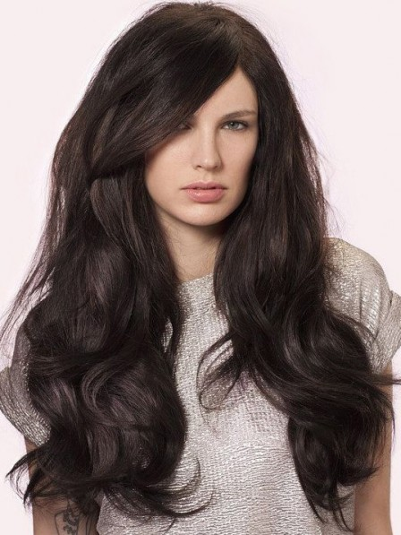 Modern Lace Front Synthetic Wavy Celebrity Long Wigs