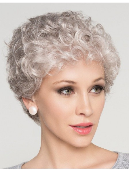 Natural Curly Grey Hair Wig For Older Women
