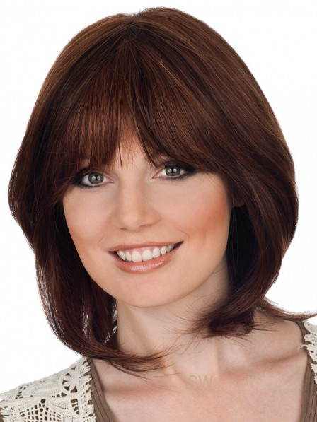 New Lace Front Synthetic Celebrity Bob Wigs With Bangs