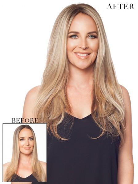 Best Seller Straight Blonde 100% Human Hair Mono Hair Pieces