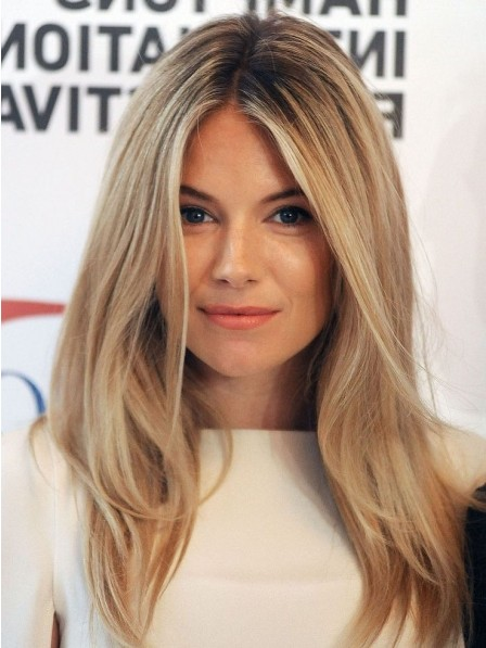 Chic Straight Lace Front Remy Human Hair Celebrity Wigs Mono Top