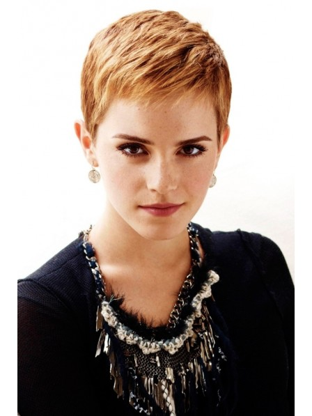 Best Blonde Capless Pixie Cut Style Synthetic Wig