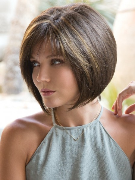 Perfectly Layered Lace Front Monofilament Bob Wig