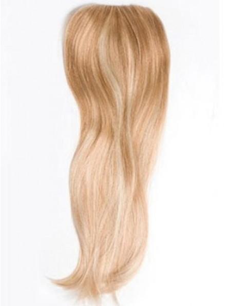 Elegant Straight Blonde 100% Human Hair Mono Hair Pieces