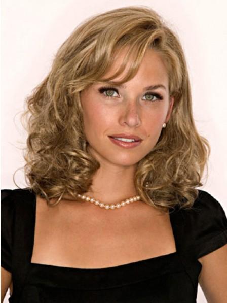 """Pretty Women's 14"""" Wavy Blonde 100% Human Hair Hair Pieces"""