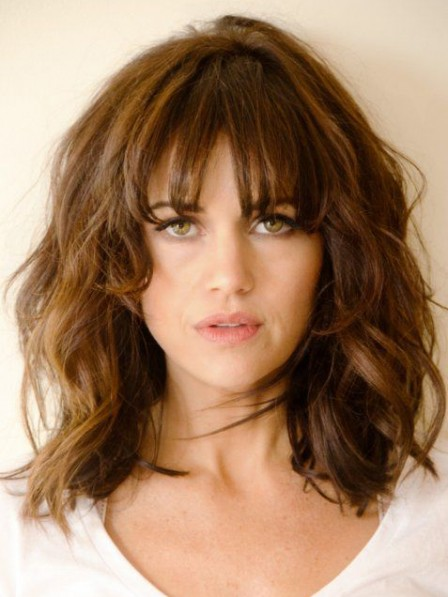 Real Nice Lace Front Chin Length Wavy 100% Human Hair Wigs Online